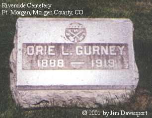 GURNEY, ORIE L. - Morgan County, Colorado   ORIE L. GURNEY - Colorado Gravestone Photos