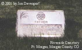 GURNEY, WILLIAM E. - Morgan County, Colorado | WILLIAM E. GURNEY - Colorado Gravestone Photos