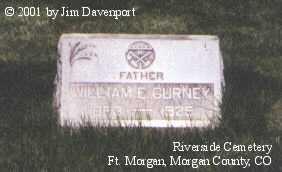 GURNEY, WILLIAM E. - Morgan County, Colorado | WILLIAM E. GURNEY - Colorado Gravestone Photos