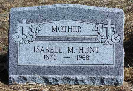 HUNT, ISABELL M - Morgan County, Colorado | ISABELL M HUNT - Colorado Gravestone Photos