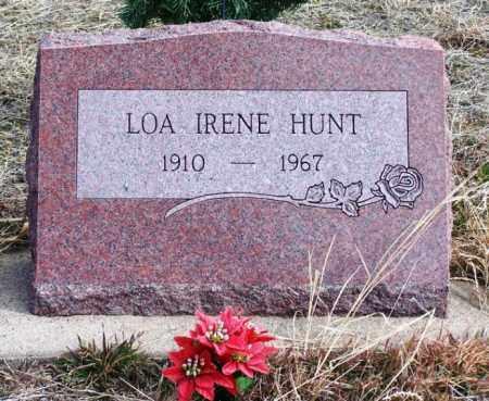 HUNT, LOA IRENE - Morgan County, Colorado | LOA IRENE HUNT - Colorado Gravestone Photos