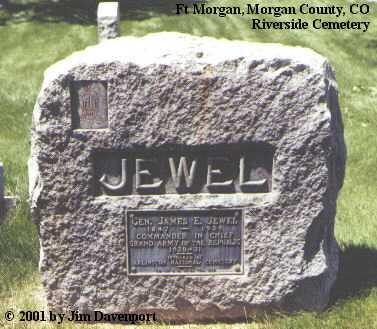 JEWEL, GEN. JAMES E. - Morgan County, Colorado | GEN. JAMES E. JEWEL - Colorado Gravestone Photos