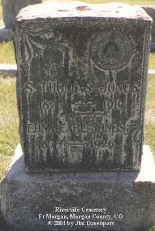 JONES, S. THOMAS - Morgan County, Colorado | S. THOMAS JONES - Colorado Gravestone Photos