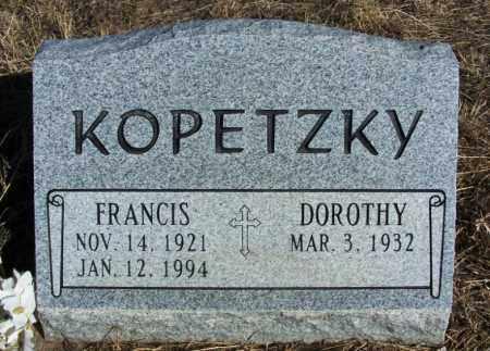 KOPETZKY, FRANCIS - Morgan County, Colorado | FRANCIS KOPETZKY - Colorado Gravestone Photos