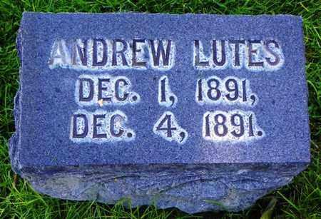 LUTES, ANDREW - Morgan County, Colorado   ANDREW LUTES - Colorado Gravestone Photos