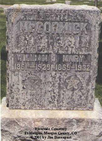 MCCORMICK, MARY - Morgan County, Colorado | MARY MCCORMICK - Colorado Gravestone Photos
