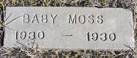 MOSS, BABY - Morgan County, Colorado   BABY MOSS - Colorado Gravestone Photos