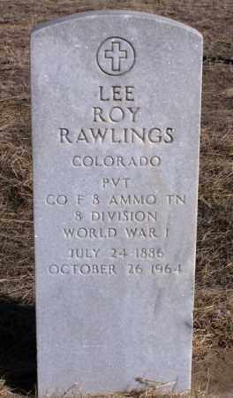 RAWLINGS, LEE ROY - Morgan County, Colorado   LEE ROY RAWLINGS - Colorado Gravestone Photos