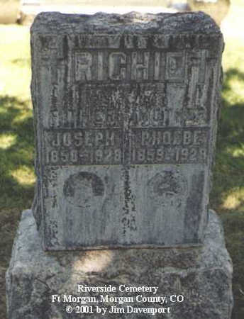 RICHIE, PHOEBE - Morgan County, Colorado | PHOEBE RICHIE - Colorado Gravestone Photos
