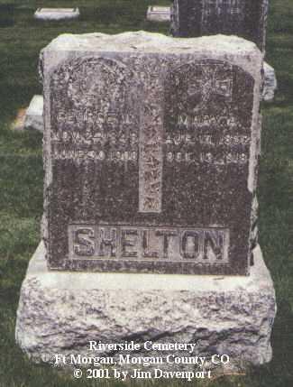 SHELTON, MARY A. - Morgan County, Colorado | MARY A. SHELTON - Colorado Gravestone Photos