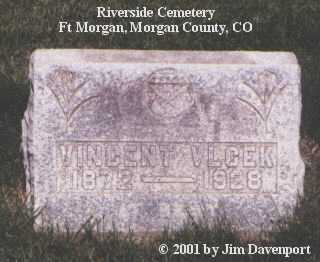 VLCEK, VINCENT - Morgan County, Colorado | VINCENT VLCEK - Colorado Gravestone Photos