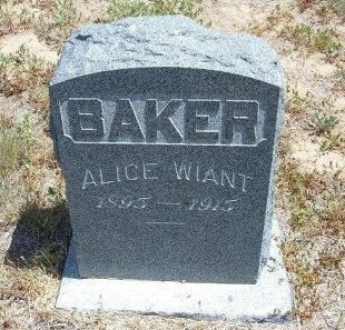 WIANT BAKER, ALICE - Otero County, Colorado | ALICE WIANT BAKER - Colorado Gravestone Photos