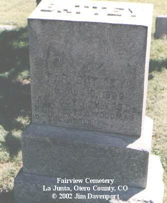 BATTEY, F. R. - Otero County, Colorado | F. R. BATTEY - Colorado Gravestone Photos