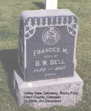 BELL, FRANCES M. - Otero County, Colorado | FRANCES M. BELL - Colorado Gravestone Photos