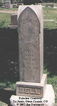 BELL, WILLIAM EDWARD - Otero County, Colorado | WILLIAM EDWARD BELL - Colorado Gravestone Photos