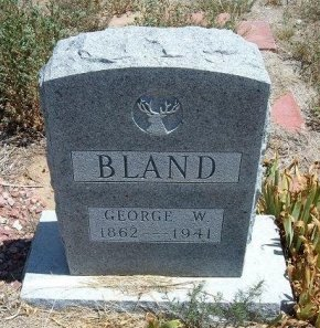 BLAND, GEORGE W - Otero County, Colorado | GEORGE W BLAND - Colorado Gravestone Photos