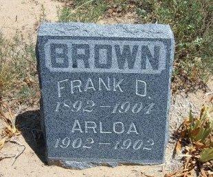 BROWN, FRANK D - Otero County, Colorado | FRANK D BROWN - Colorado Gravestone Photos
