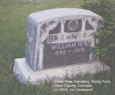 BROWNLOW, WILLIAM H. - Otero County, Colorado | WILLIAM H. BROWNLOW - Colorado Gravestone Photos