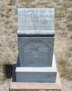 DAVIS, JESSE E - Otero County, Colorado | JESSE E DAVIS - Colorado Gravestone Photos