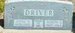 KAUFFMAN DRIVER, ANNA K. - Otero County, Colorado | ANNA K. KAUFFMAN DRIVER - Colorado Gravestone Photos