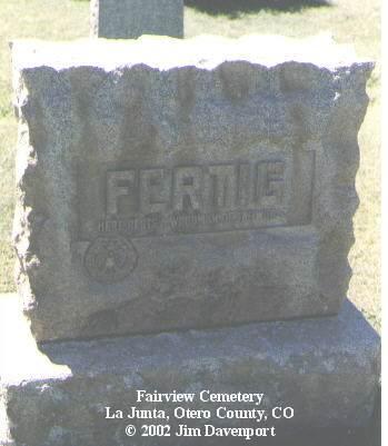 FERTIG, OLIVE F. - Otero County, Colorado | OLIVE F. FERTIG - Colorado Gravestone Photos