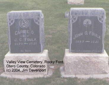 FOULK, JOHN C. - Otero County, Colorado | JOHN C. FOULK - Colorado Gravestone Photos