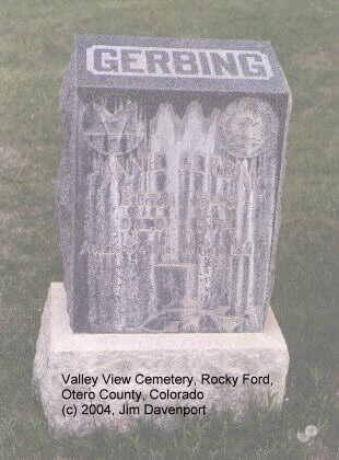 GERBING, FANNIE - Otero County, Colorado   FANNIE GERBING - Colorado Gravestone Photos