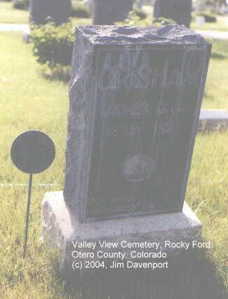 GRISHAM, JAMES D., JR. - Otero County, Colorado | JAMES D., JR. GRISHAM - Colorado Gravestone Photos