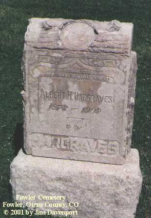 HARGRAVES, ALBERT H. - Otero County, Colorado | ALBERT H. HARGRAVES - Colorado Gravestone Photos
