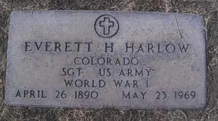 HARLOW, EVERETT H - Otero County, Colorado | EVERETT H HARLOW - Colorado Gravestone Photos