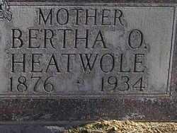 HEATWOLE, BERTHA OLIVE - Otero County, Colorado | BERTHA OLIVE HEATWOLE - Colorado Gravestone Photos