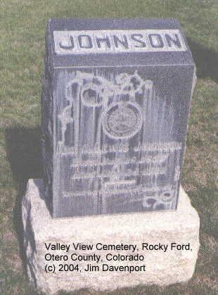 LEWIS JOHNSON, IDA A. - Otero County, Colorado | IDA A. LEWIS JOHNSON - Colorado Gravestone Photos