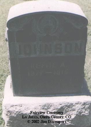 JOHNSON, RETTIE A. - Otero County, Colorado | RETTIE A. JOHNSON - Colorado Gravestone Photos