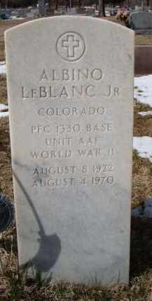 LEBLANC, ALBINO JR. - Otero County, Colorado   ALBINO JR. LEBLANC - Colorado Gravestone Photos