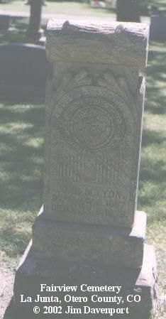 LYON, JOHN M. - Otero County, Colorado | JOHN M. LYON - Colorado Gravestone Photos