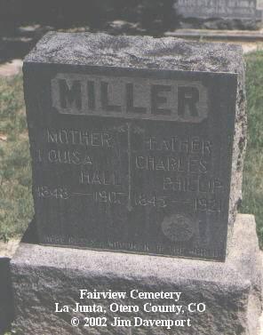 MILLER, LOUISA - Otero County, Colorado | LOUISA MILLER - Colorado Gravestone Photos