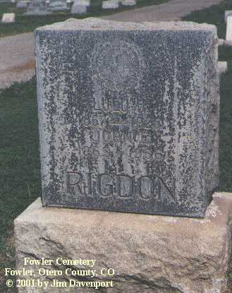 RIGDON, LULU H. - Otero County, Colorado | LULU H. RIGDON - Colorado Gravestone Photos