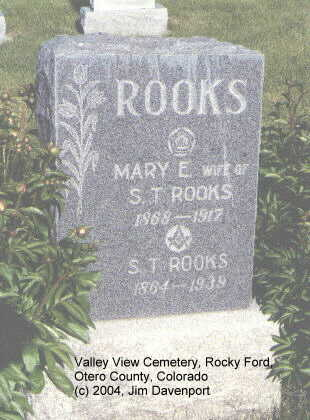 ROOKS, MARY E. - Otero County, Colorado | MARY E. ROOKS - Colorado Gravestone Photos