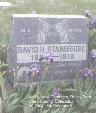 STANBRIDGE, DAVID H. - Otero County, Colorado | DAVID H. STANBRIDGE - Colorado Gravestone Photos