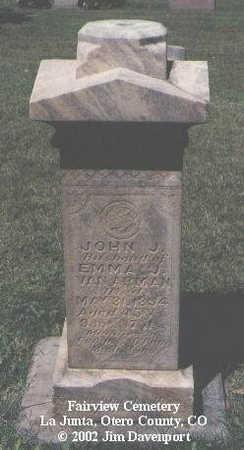 VAN ARMAN, JOHN J. - Otero County, Colorado | JOHN J. VAN ARMAN - Colorado Gravestone Photos