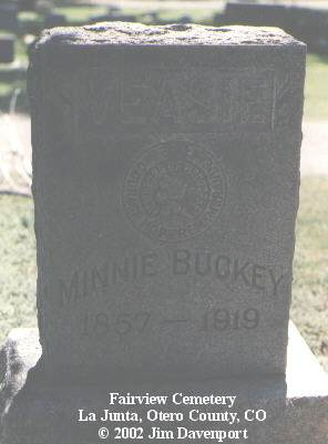 BUCKEY VEASIE, MINNIE - Otero County, Colorado | MINNIE BUCKEY VEASIE - Colorado Gravestone Photos