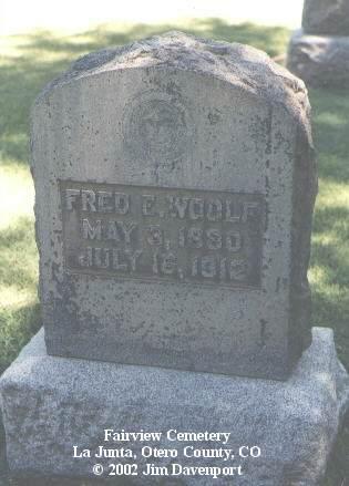 WOOLF, FRED E. - Otero County, Colorado   FRED E. WOOLF - Colorado Gravestone Photos