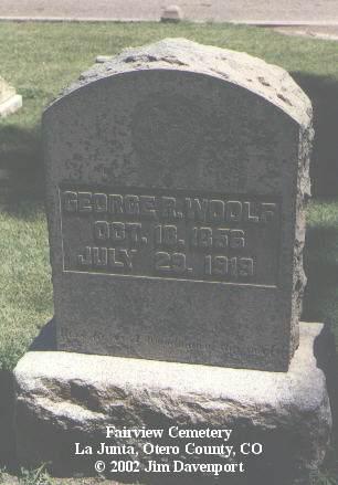 WOOLF, GEORGE R. - Otero County, Colorado | GEORGE R. WOOLF - Colorado Gravestone Photos