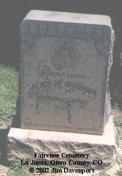 WORMAN, ALICE M. - Otero County, Colorado | ALICE M. WORMAN - Colorado Gravestone Photos