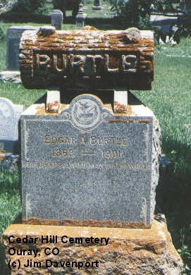 BURTLE, EDGAR A. - Ouray County, Colorado | EDGAR A. BURTLE - Colorado Gravestone Photos