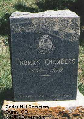 CHAMBERS, THOMAS - Ouray County, Colorado   THOMAS CHAMBERS - Colorado Gravestone Photos