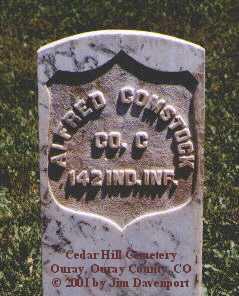 COMSTOCK, ALFRED - Ouray County, Colorado | ALFRED COMSTOCK - Colorado Gravestone Photos