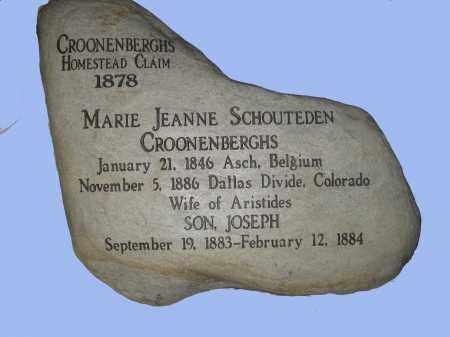 CROONENBERGHS, JOSEPH - Ouray County, Colorado | JOSEPH CROONENBERGHS - Colorado Gravestone Photos