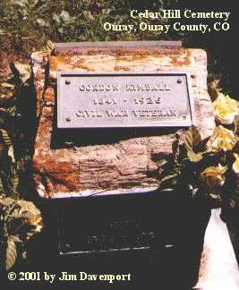 KIMBALL, GORDON - Ouray County, Colorado | GORDON KIMBALL - Colorado Gravestone Photos