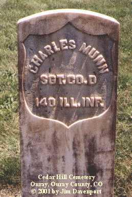 MUNN, CHARLES - Ouray County, Colorado | CHARLES MUNN - Colorado Gravestone Photos